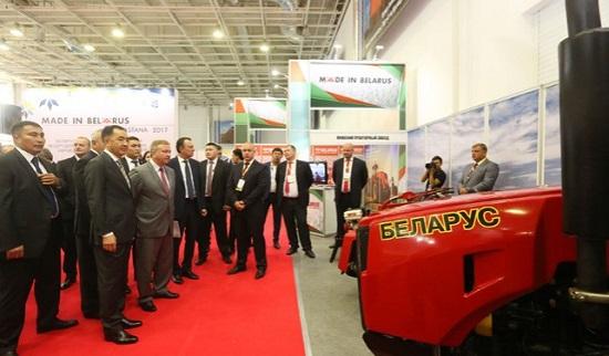 Выставка белорусских тракторов МТЗ
