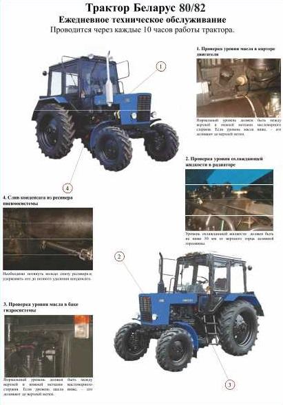 Советы по техническому обслуживанию МТЗ 80 82.