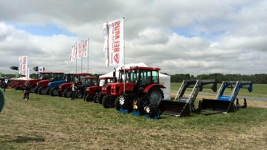 Тракторы МТЗ на «Всероссийском дне поля»