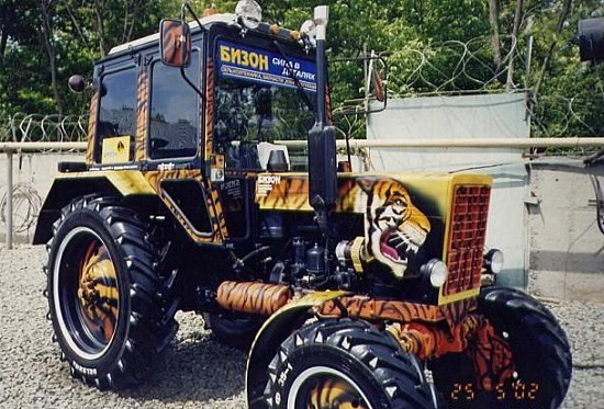 Тюнинг трактора МТЗ - обзор нестандарнтых решений.