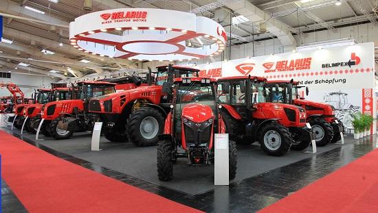 белорусские трактора на выставке в Ганновере