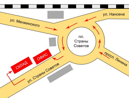 Карта проезда к офису компании