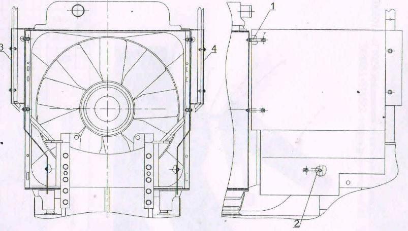 система охлаждения трактора
