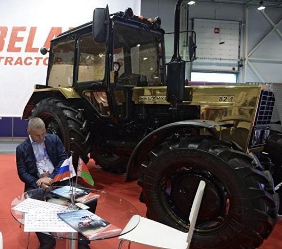 трактор мтз из золото - золотой трактор мтз