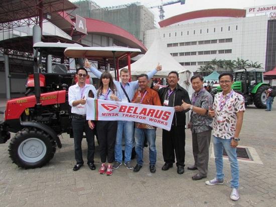 Выставка тракторов МТЗ в Индонезии