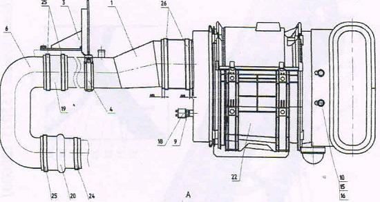 воздухоочиститель трактора мтз